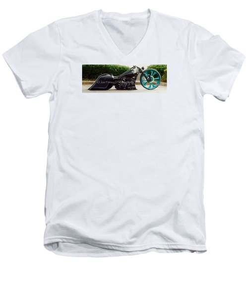 Men's V-Neck T-Shirt featuring the photograph Big Wheel - No.1215 by Joe Finney