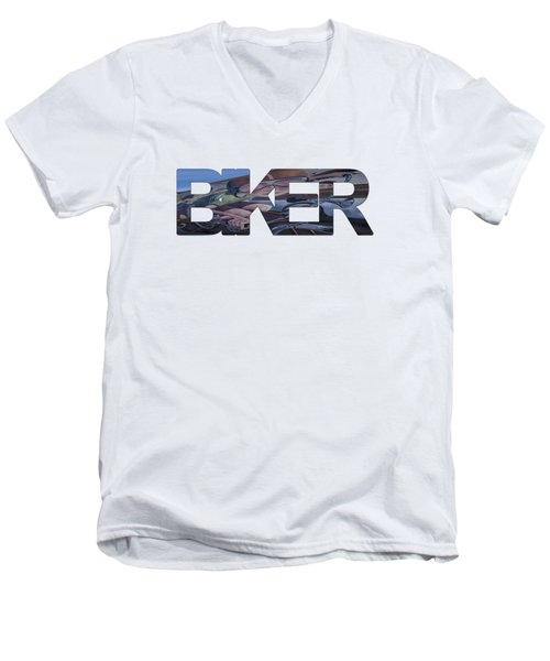 Biker Men's V-Neck T-Shirt