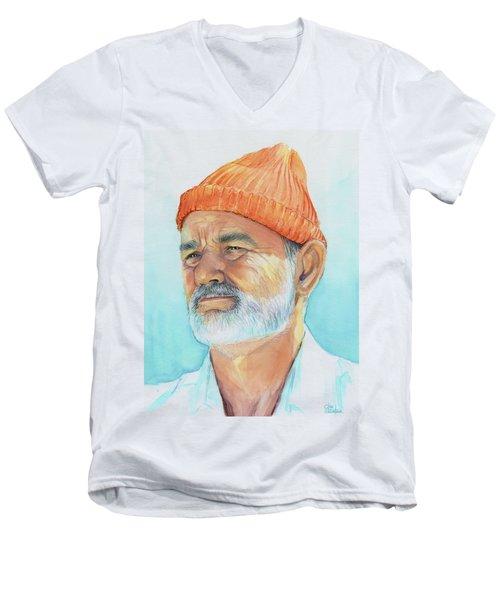 Bill Murray Steve Zissou Life Aquatic Men's V-Neck T-Shirt