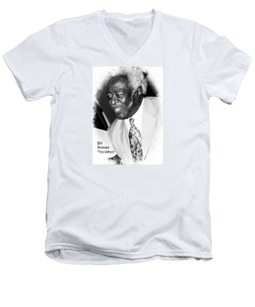 Bill Pinkney Of The Drifters Men's V-Neck T-Shirt by Bob Pardue