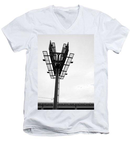 Billboard Above Interstate 15 In Helena Mt Men's V-Neck T-Shirt