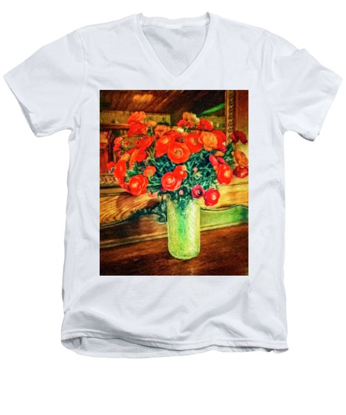 Billy's Flowers Men's V-Neck T-Shirt