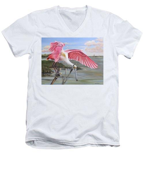 Biloxi Bayou Beauty Men's V-Neck T-Shirt
