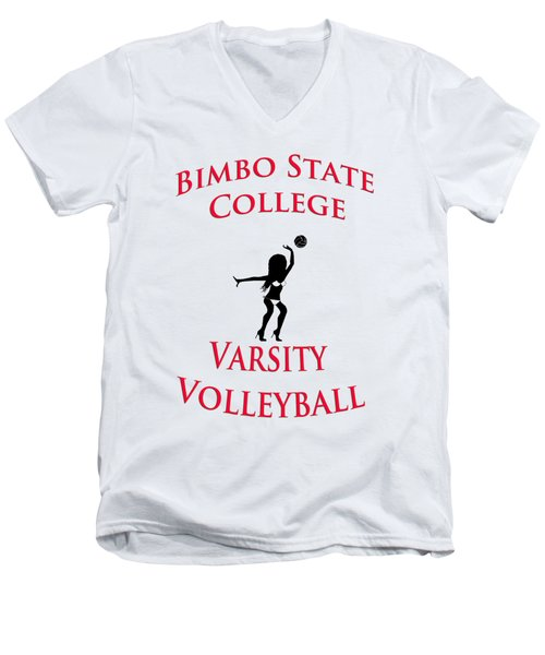 Bimbo State College - Varsity Volleyball Men's V-Neck T-Shirt
