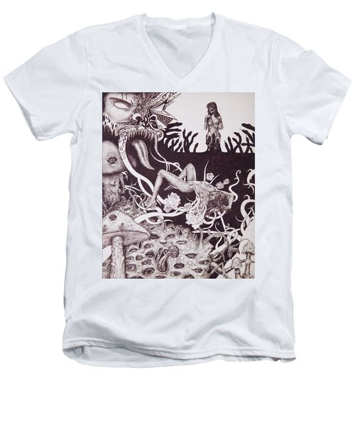 Binah Qlippoth Men's V-Neck T-Shirt