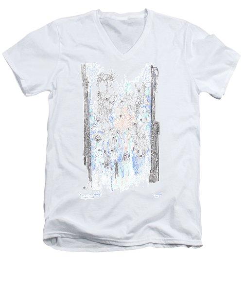 Bingham Fluid Or Paste Men's V-Neck T-Shirt
