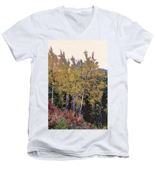 Birch Trees #2 Men's V-Neck T-Shirt