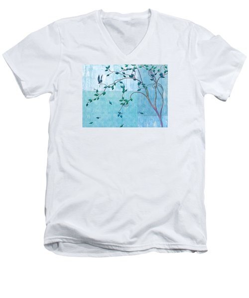 Bird In A Tree-2 Men's V-Neck T-Shirt by Nina Bradica