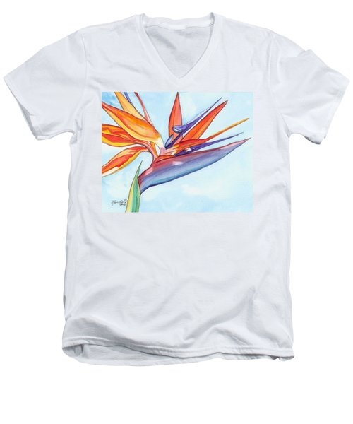 Bird Of Paradise IIi Men's V-Neck T-Shirt by Marionette Taboniar