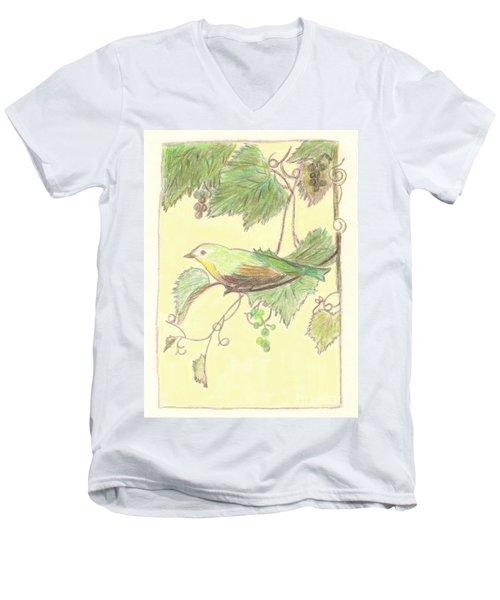 Bird On A Branch Men's V-Neck T-Shirt