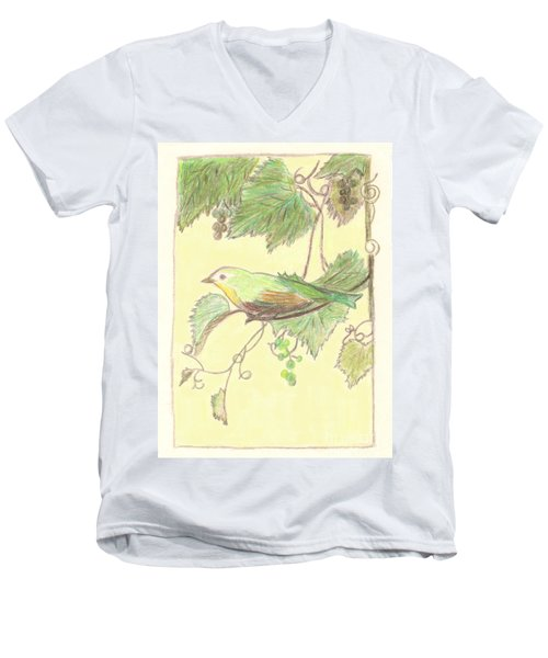 Bird On A Branch Men's V-Neck T-Shirt