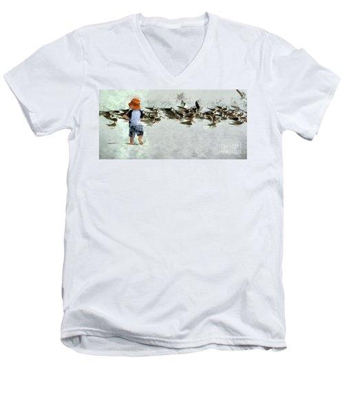 Bird Play Men's V-Neck T-Shirt