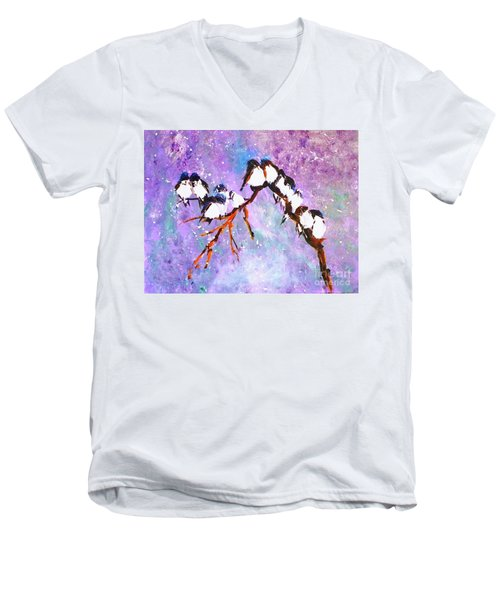 Bird Snowfall Limited Edition Print 1-25 Men's V-Neck T-Shirt