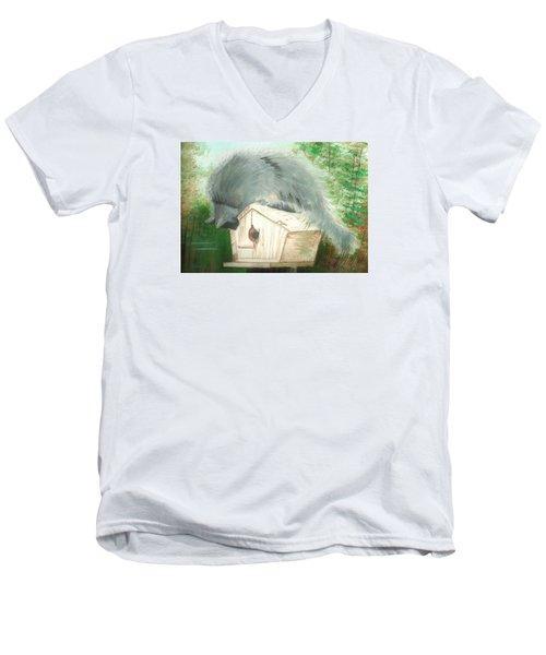 Birdie In The Hole Men's V-Neck T-Shirt