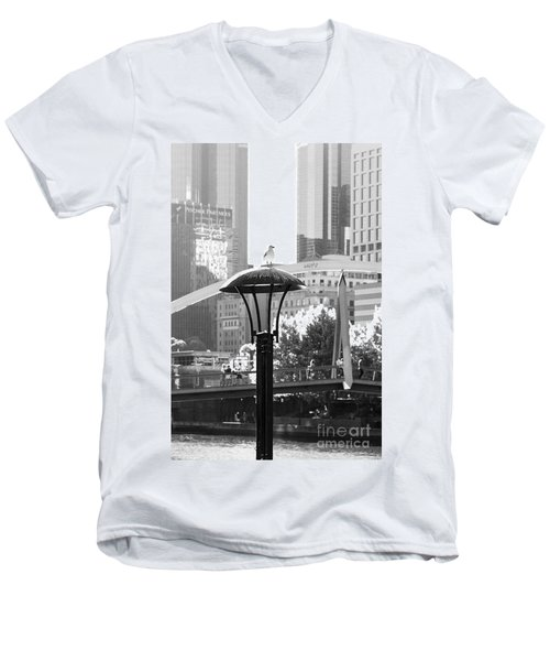 Birds Eye View Of The City Men's V-Neck T-Shirt