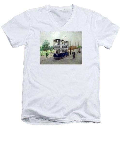 Birmingham Tram With Figures Men's V-Neck T-Shirt