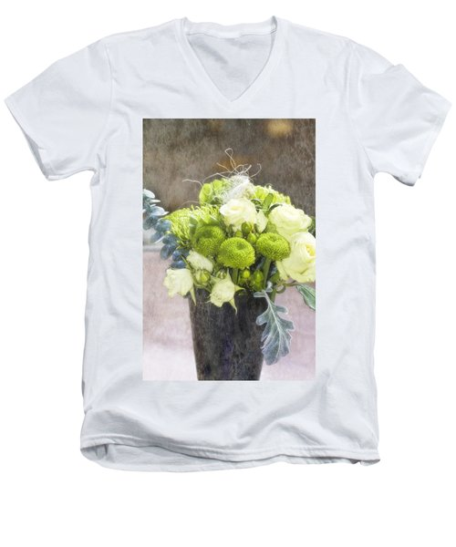 Men's V-Neck T-Shirt featuring the photograph Birthday Wishes by Joan Bertucci