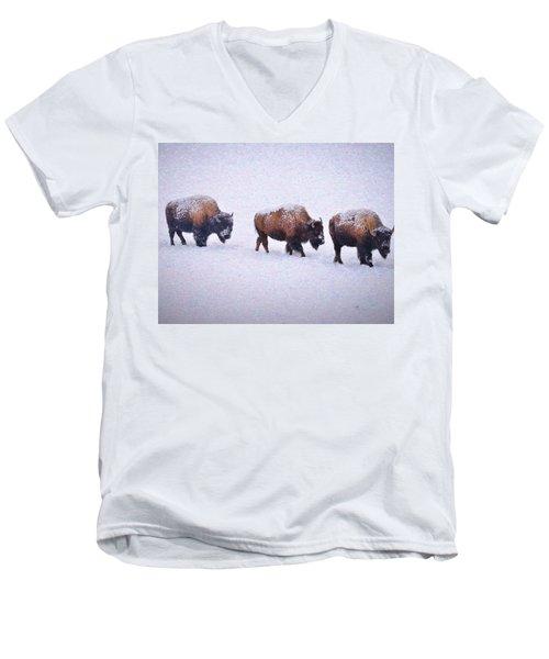 Bison March Impressions Men's V-Neck T-Shirt