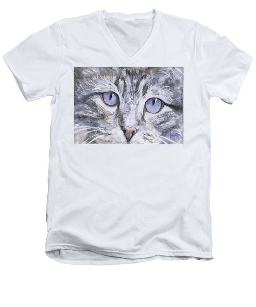 Bisous Men's V-Neck T-Shirt by Mary-Lee Sanders