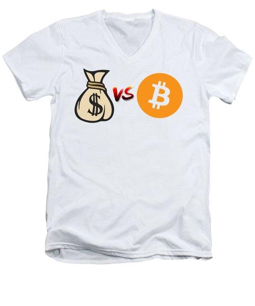 Bitcoin Vs Fiat Men's V-Neck T-Shirt