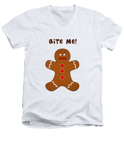 Bite Me Men's V-Neck T-Shirt