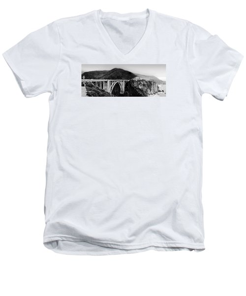 Bixby Bridge - Big Sur - California Men's V-Neck T-Shirt