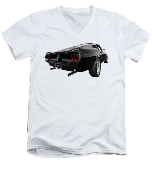 Black 1967 Mustang Men's V-Neck T-Shirt