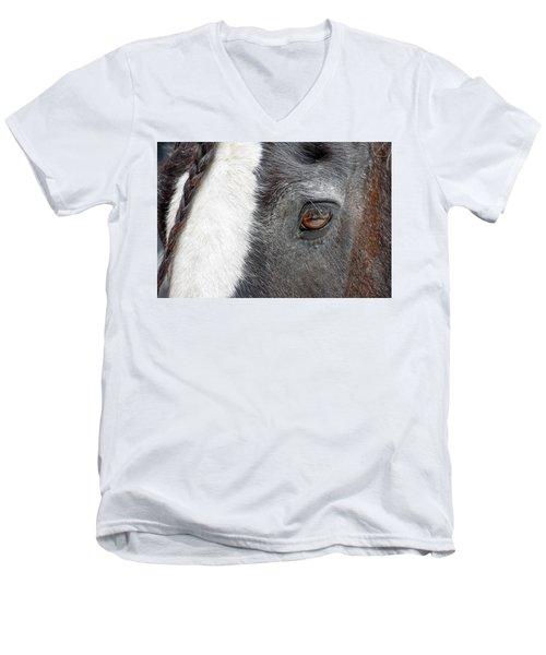 Black And White Beauty Men's V-Neck T-Shirt