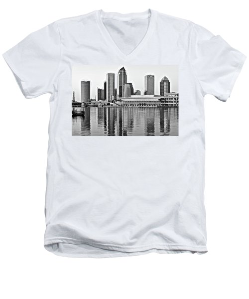 Black And White In The Heart Of Tampa Bay Men's V-Neck T-Shirt