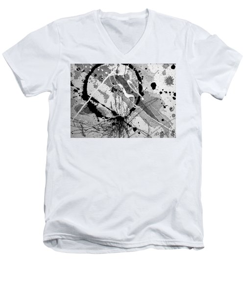 Black And White One Men's V-Neck T-Shirt