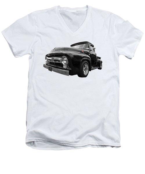 Black Beauty - 1956 Ford F100 Men's V-Neck T-Shirt