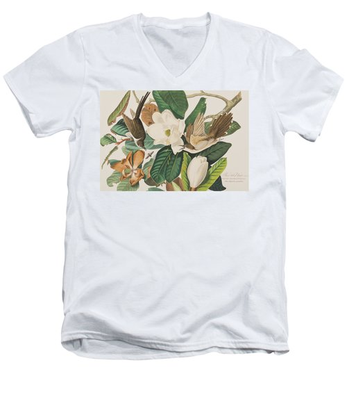 Black Billed Cuckoo Men's V-Neck T-Shirt