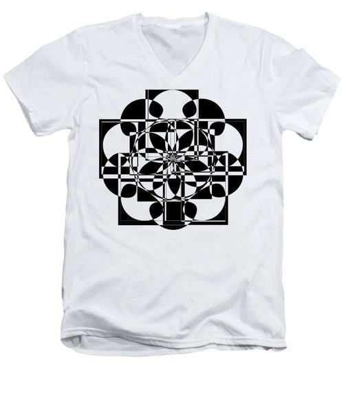 Black Cross Men's V-Neck T-Shirt