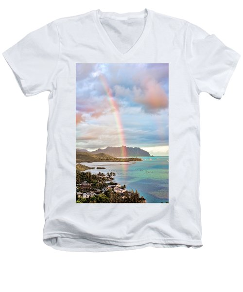 Black Friday Rainbow Men's V-Neck T-Shirt