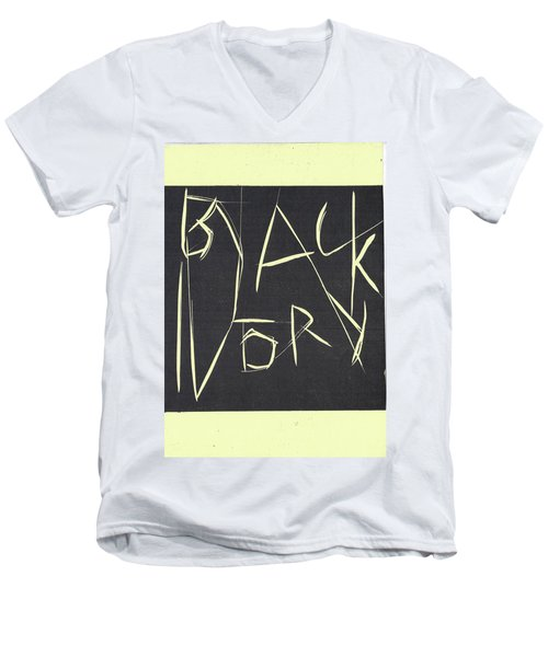 Black Ivory Title Page Men's V-Neck T-Shirt