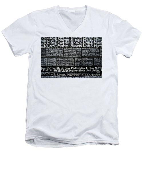 Black Lives Matter Wall Part 3 Of 9 Men's V-Neck T-Shirt