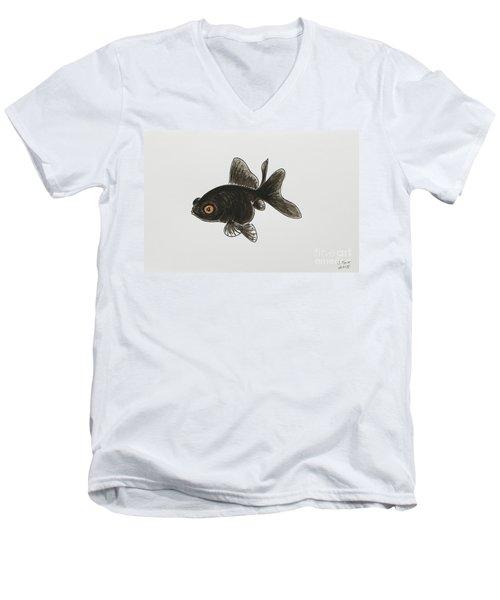 Black Moor Men's V-Neck T-Shirt by Stefanie Forck