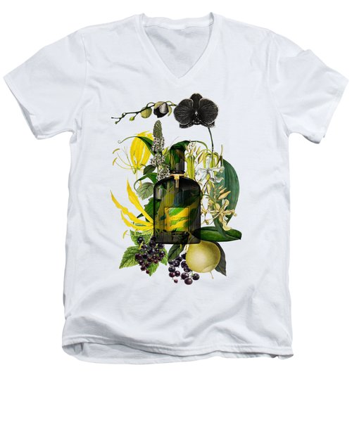 Black Orchid Notes - By Diana Van Men's V-Neck T-Shirt