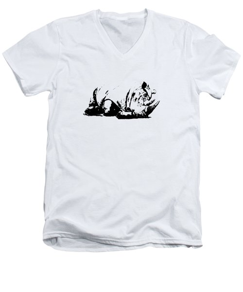Black Rhino Men's V-Neck T-Shirt