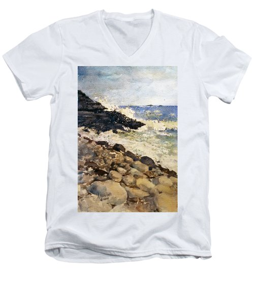 Black Rocks - Lake Superior Men's V-Neck T-Shirt