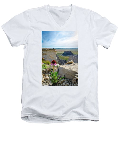 Black Sampson In The Badlands Men's V-Neck T-Shirt