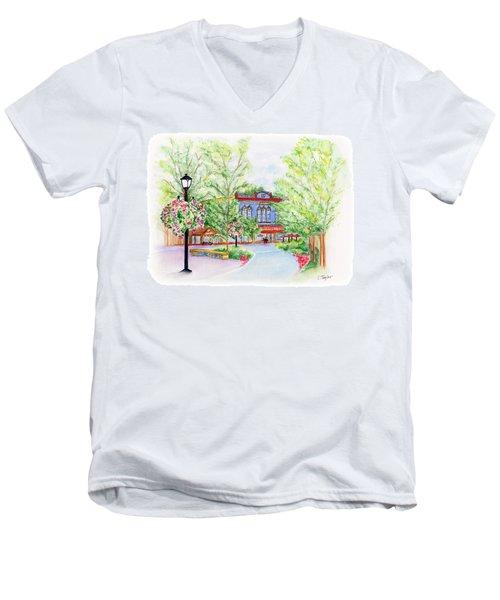 Black Sheep On The Plaza Men's V-Neck T-Shirt