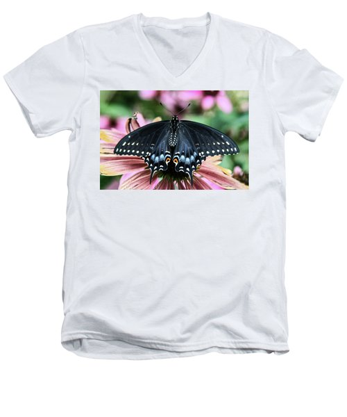 Black Swallowtail 3 Men's V-Neck T-Shirt