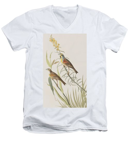 Black-throated Bunting Men's V-Neck T-Shirt