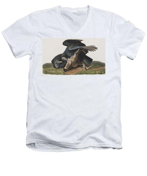 Black Vulture Or Carrion Crow Men's V-Neck T-Shirt