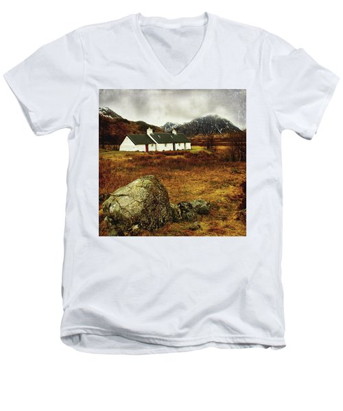 Blackrock Cottage Glencoe Men's V-Neck T-Shirt by Jacqi Elmslie