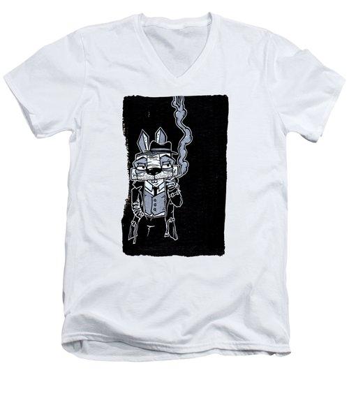 Blake Burns Detective Bunny Men's V-Neck T-Shirt
