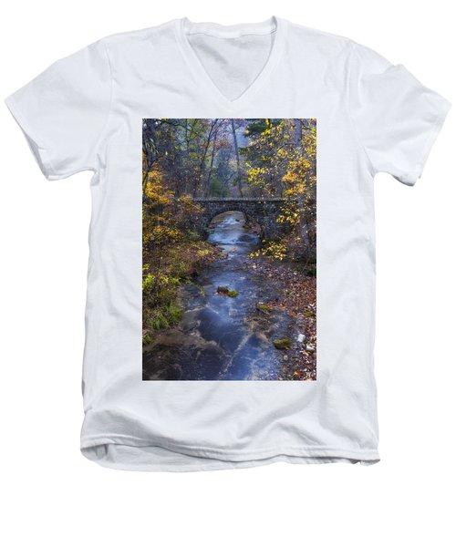 Blanchard Stone Bridge Men's V-Neck T-Shirt