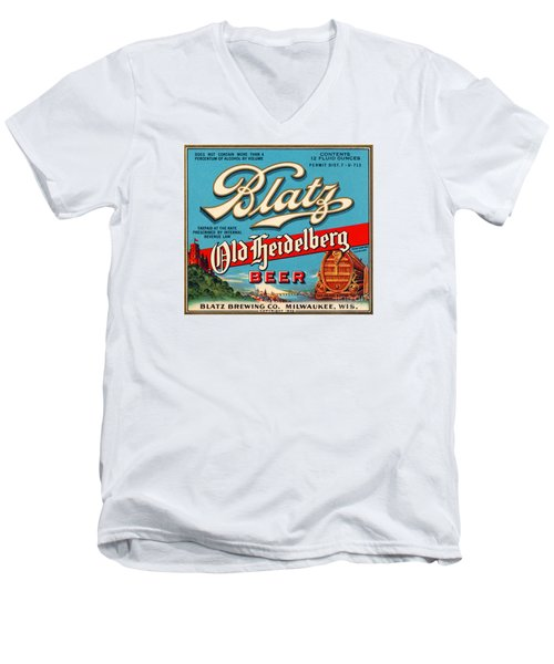 Blatz Old Heidelberg Vintage Beer Label Restored Men's V-Neck T-Shirt