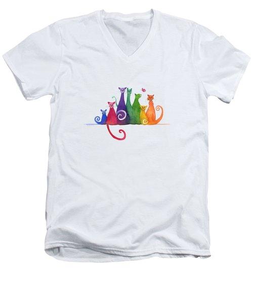 Blended Family Of Seven Men's V-Neck T-Shirt